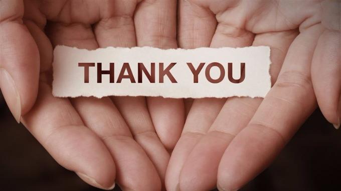 Dar las gracias